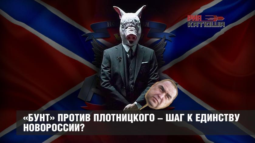 «Бунт» против Плотницкого – шаг к единству Новороссии?