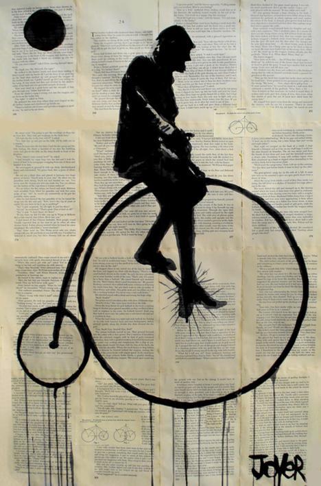 Рисунки на книжных страницах от Loui Jover