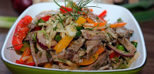 Салат из свиного языка — простые и вкусные рецепты