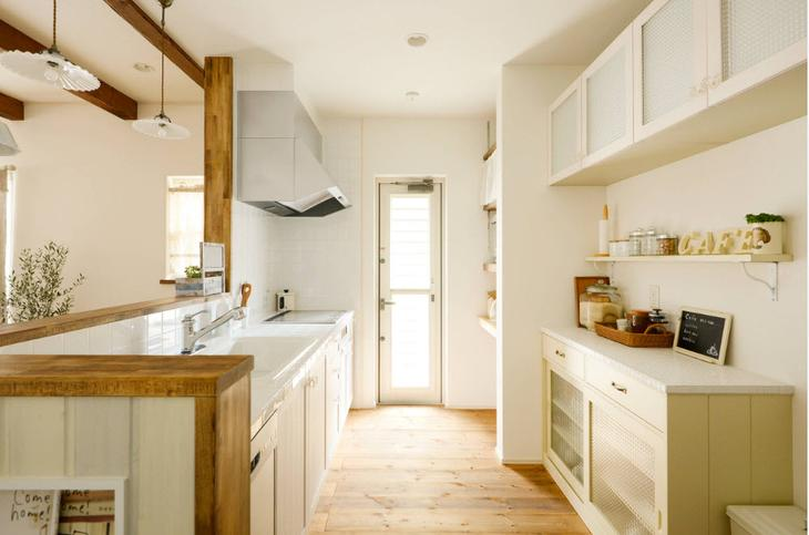 Кухонный гарнитур в два ряда