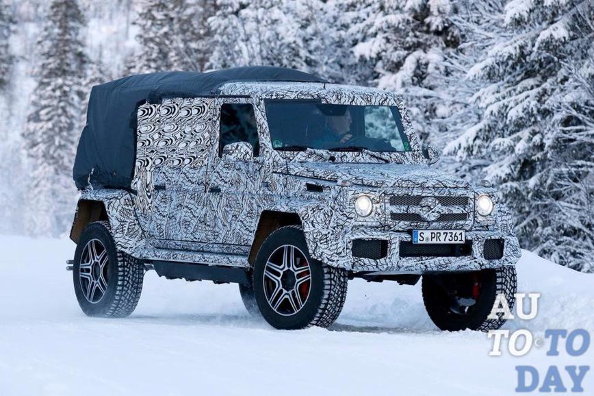 Mercedes готовит к серийному производству мощный пикап G-Class 4x4² с двойной кабиной