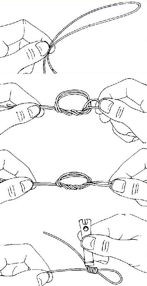нахлыст узлы для шнура подлеска