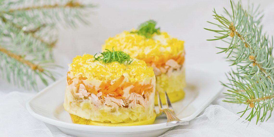 Классический салат «Мимоза» по-советски
