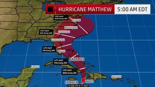 """Ураган """"Мэттью"""" накроет побережье американской Флориды"""