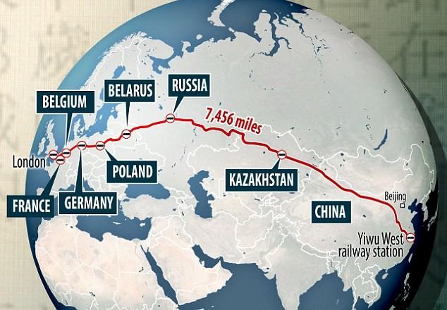 Новый шёлковый путь: Китай отправил первый грузовой поезд в Великобританию