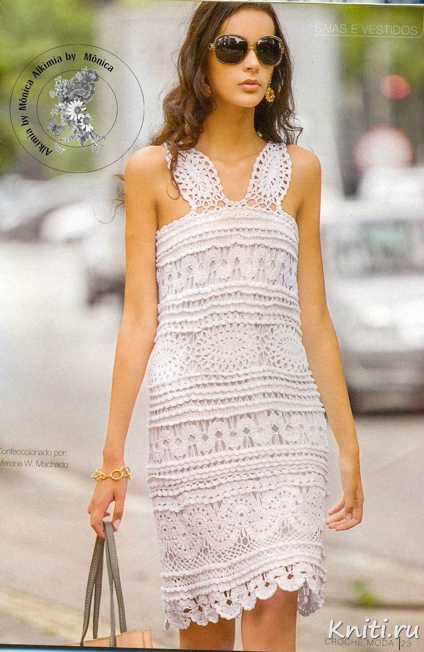 Красивые вязаные платья крючком со схемами фото 706