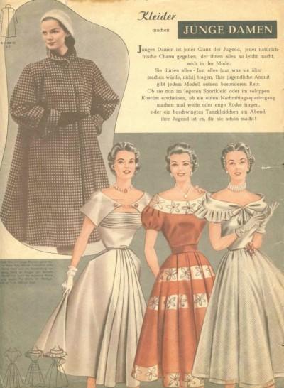 Фото в журналах мод 50-х годов с выкройками