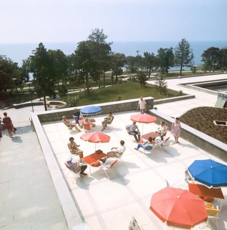 Парк санатория Ай-Даниль в Крыму, 1975 год
