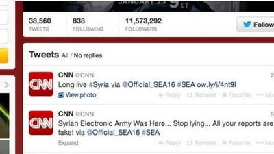 Сирийские хакеры взломали аккаунты CNN