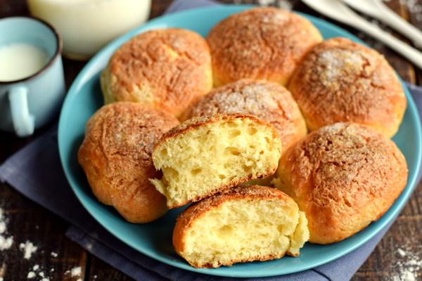 Творожные булочки «Пуховые» – без дрожжей, без долгого замеса, выпекаются за 20 минут