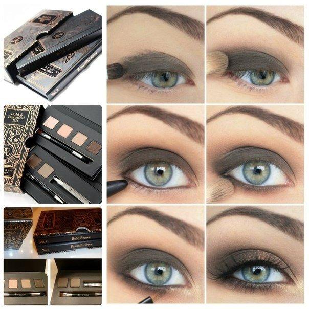 Смоки айс макияж для серых глаз