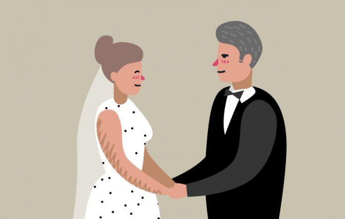 Анекдот про мужа, устроившего сюрприз жене в первую брачную ночь