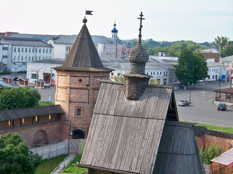 Вид на город Города России, владимирская область, красивые места, пейзажи, путешествия, россия