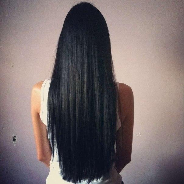 Волосы со спины черные длинные волосы