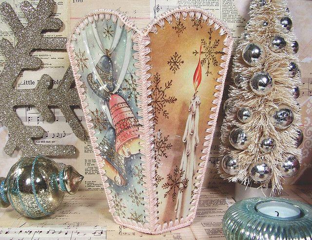 Старинные открытки Корзины