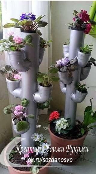 Подборка идей из пластиковых труб.