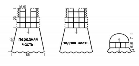 Схема вязания шапочки и ажурного платья