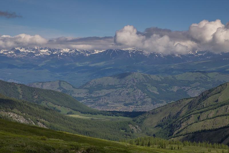 Южно-Чуйский с перевала Судобай алтай, путешествия, россия, укок, фото