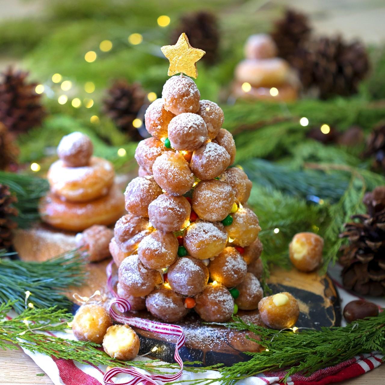 Новогодний крокембуш - делаем съедобную сладкую елку