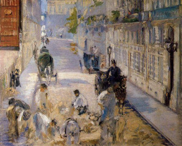 Дорожные рабочие на улице Монье