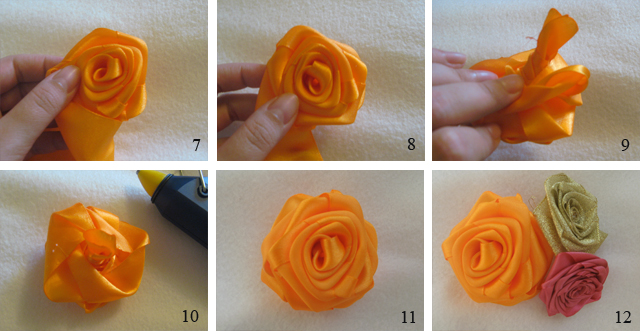 Роза из атласной ленты мастер класс фото