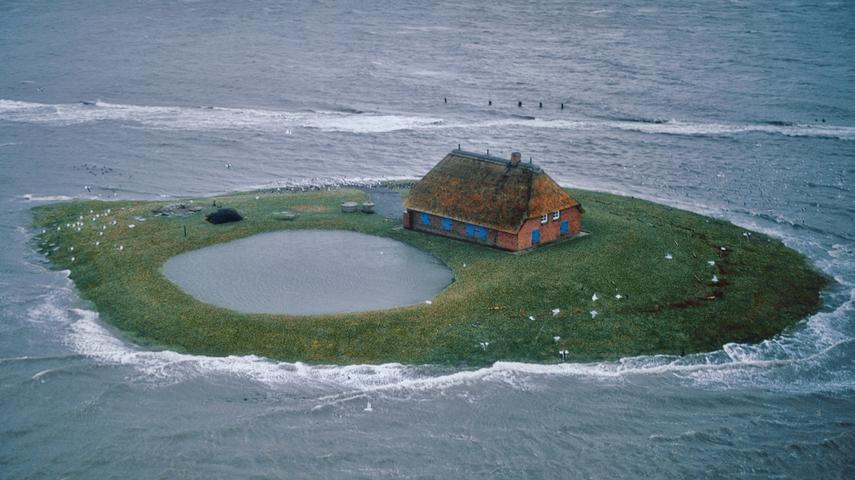 Сказочные исчезающие острова в Северном море (Фото)