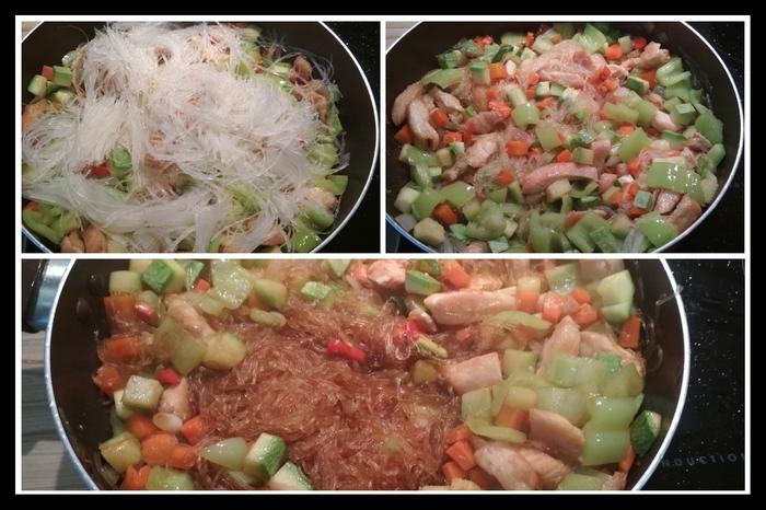 Фунчоза с курицей и овощами. Фунчоза, Курица, Жарка, Азиатская кухня, Длиннопост