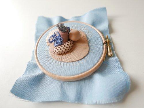 Необычная трёхмерная вышивка Жустины Володкиевич (9 фото)