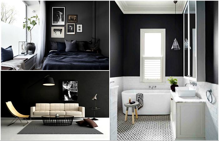 Чернее ночи: 19 смелых интерьеров с черными стенами, которые смогут оценить лишь неординарные личности