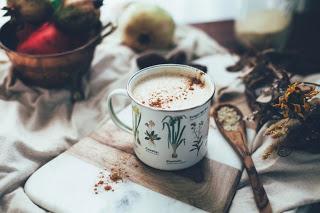 Кунжутный чайный латте