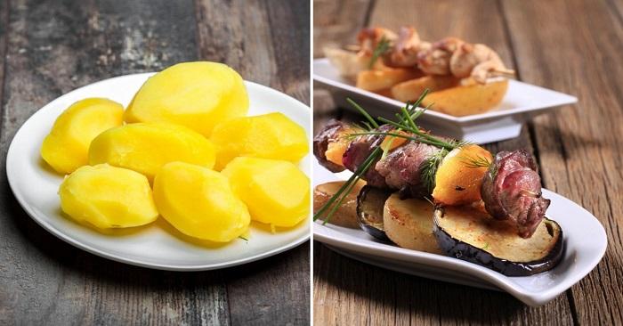 картофель с баклажанами в мультиварке