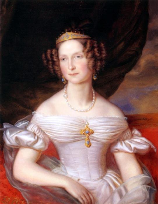 Jan Baptist van der Hulst Anna Pavlovna of Russia 1837