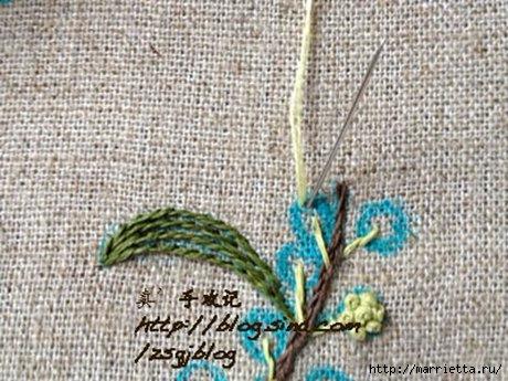 Объемная вышивка. Ромашки, одуванчики, хризантемы и мимоза (32) (460x345, 140Kb)