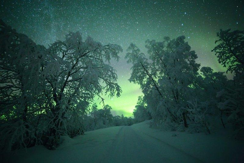 Потрясающие снимки северного сияния и звёздного неба над холодной Финляндией путешествия, северное сияние, тина тёманен, фотография
