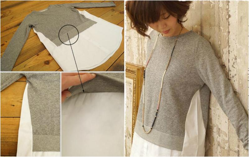 Переделка свитера: пара надрезов на старом свитере — неповторимый наряд готов!