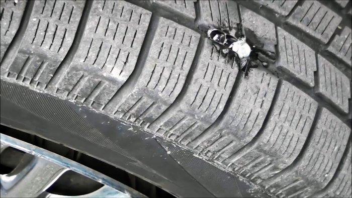 Ремонт прокола без снятия колеса