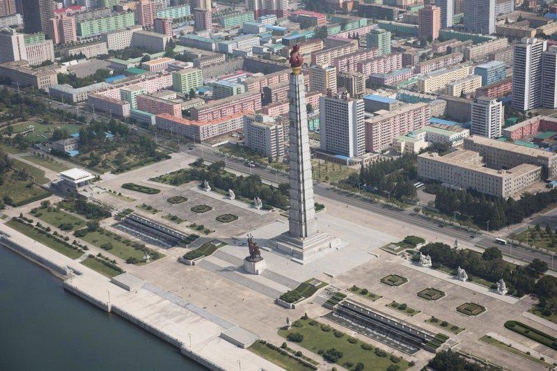 Монумент идей Чучхе был возведён в 1982 году в честь 70-летия Ким Ир Сена Арам Пан, Пхеньян, видео, красота, редкие кадры, с высоты, фотограф