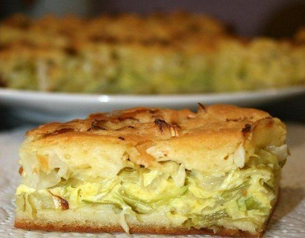 Капустный заливной пирог: диетическая выпечка на скорую руку