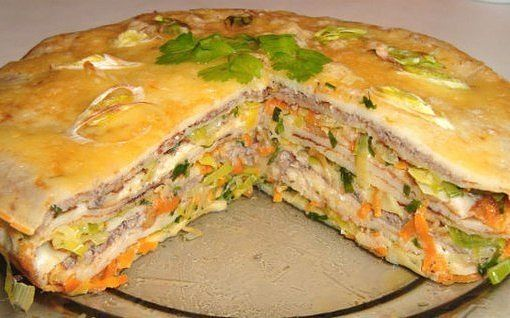 Закусочный блинный торт
