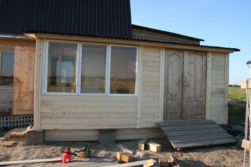 Построить закрытая веранда к дому фото своими руками 15