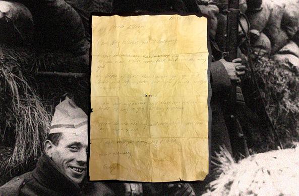 Любовное послание солдата Первой мировой нашли спустя столетие