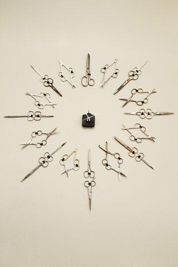 Часы из ножниц