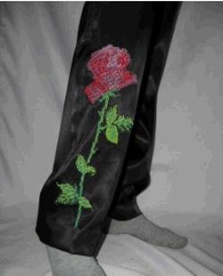 Вышивка бисером по одежде