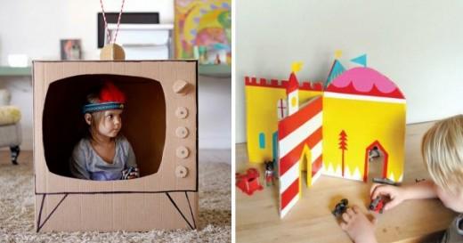 Посмотри, как грамотные мамы используют старые коробки… Воплощение детской мечты!