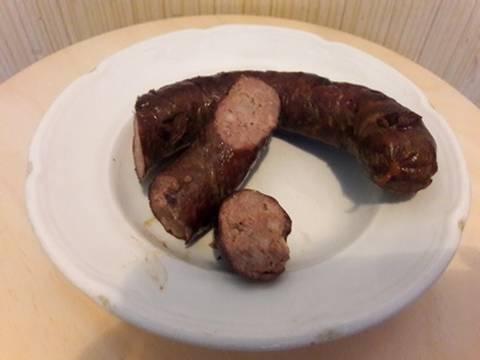 Домашняя колбаса из куриной печени.