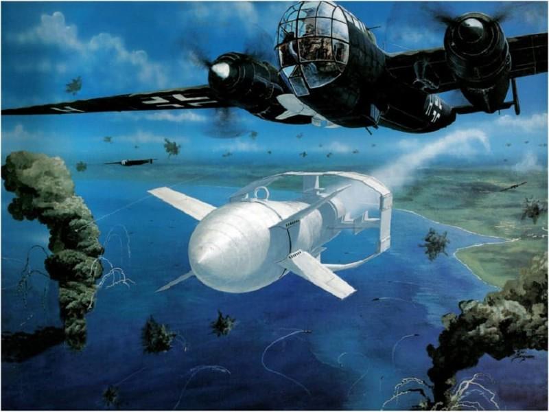 Радиоуправляемая бомба Фритц-Х Вундерваффе, Чудо техника, военная техника Германии, вторая мировая война