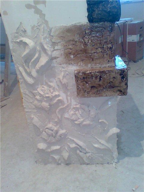 Декоративный камень своими руками из шпаклевки