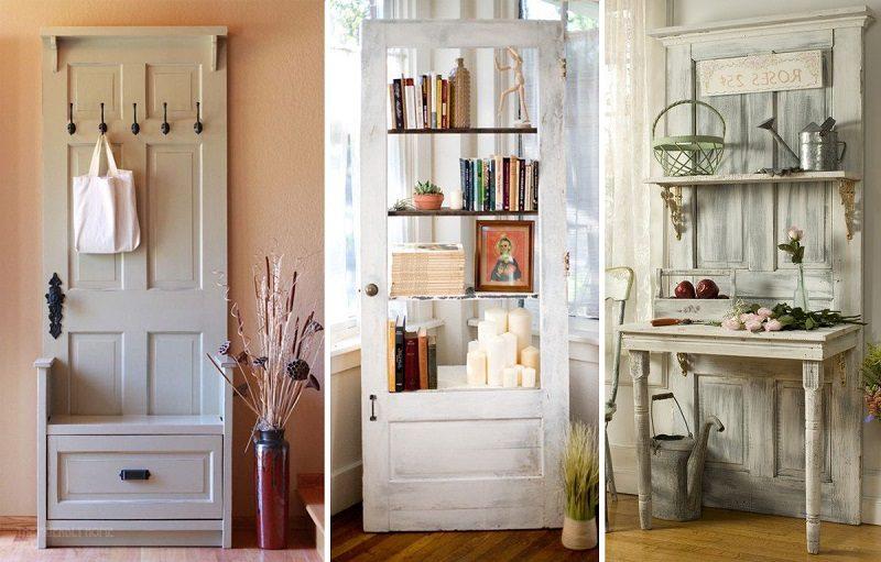 Старой двери — новую жизнь. 26 впечатляющих идей для дома и дачи