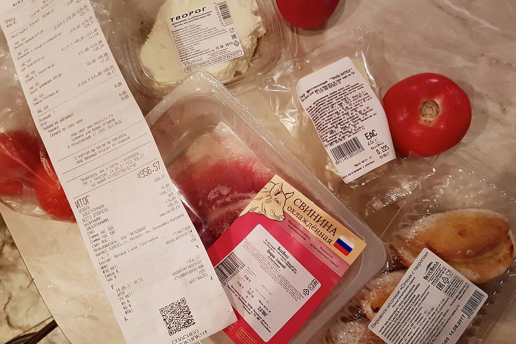Как потратить 1000р на продукты и ничего не купить