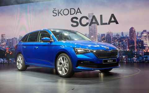 Skoda показала свою новую модель Scala